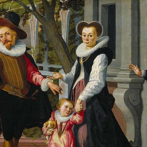 Rijke kinderen, arme ouders, Aert Pietersz., Pieter Pietersz. (I), 1599 - Dagelijks leven (schilderijen) - Kunstwerken - Ontdek de collectie - Rijksmuseum