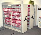 Sliding Hand Crank Storage Mobile Shelving | Slider Racks On Tracks Images