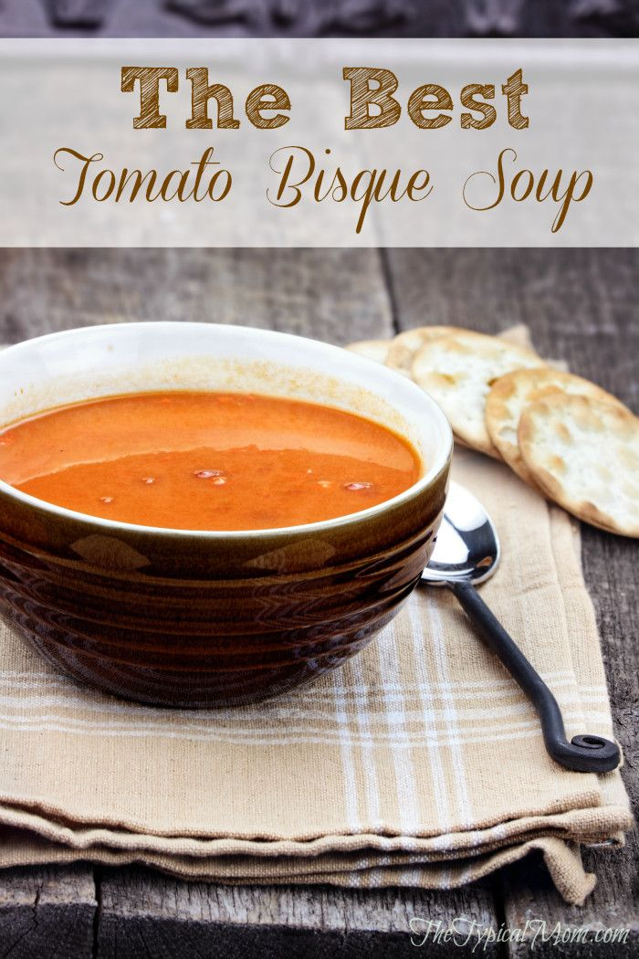 The BEST tomato bisque soup I've ever made! Pretty easy and is great kept warm in a crockpot when I have a party.