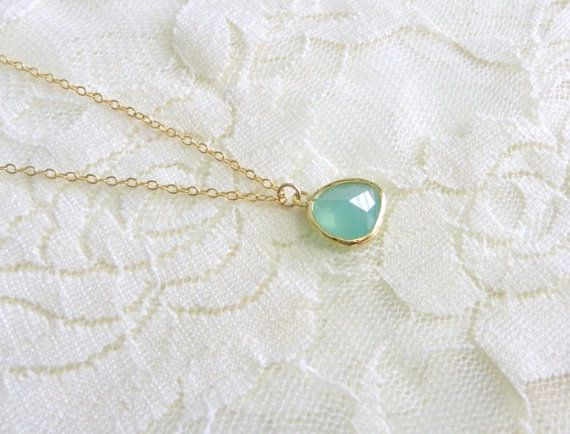 Mint julep gold delicate modern jewelry by LemonSweetJewelry, $17.00