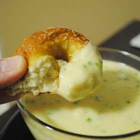 Homemade By Holman: Soft Pretzels with Jalapeno Cheese Sauce