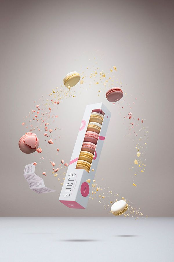Feminine Confectionary Branding : Cute Macaron Packaging