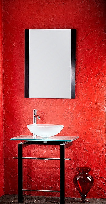 Awesome Websites Modern Frosted Glass Bathroom Vanity AP FG by Aqua Pat