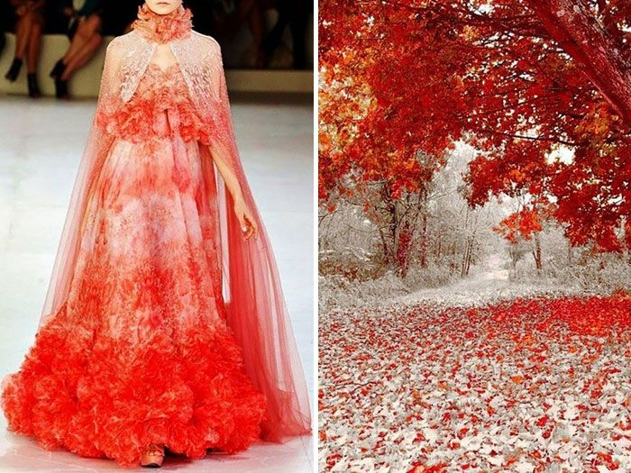 Fashion & Nature: Russian Artist Compares Famous Designers' Dresses With Nature | Bored Panda