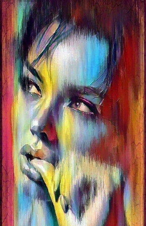 P 22 Kunstler Portrait Gesichter Gemalt Moderne Portrat
