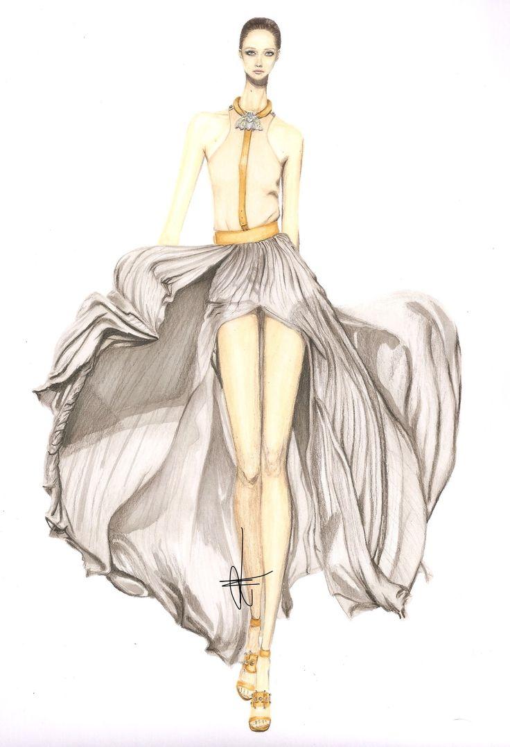 Art Deco Black And White Fashion Illustration