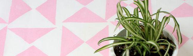 Cómo hacer un mantel geométrica o telón de fondo