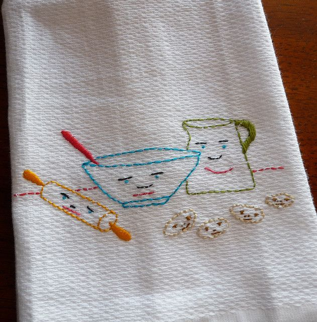 embroidered dish towels patterns | Quick Dish Towels – the purl bee – Knitting Crochet Sewing Crafts