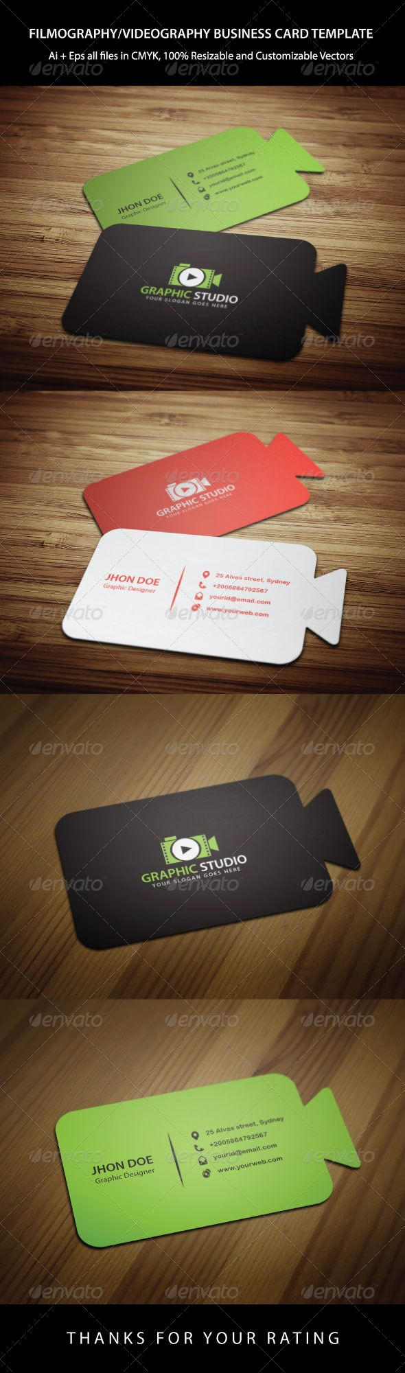 122 best business cards images on pinterest corporate identity cinematography business card template magicingreecefo Images