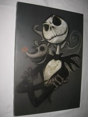 I found 'JACK SKELLINGTON Nightmare Before Christmas DISNEY STORE EXCLUSIVE Print Canvas' on Wish, check it out!