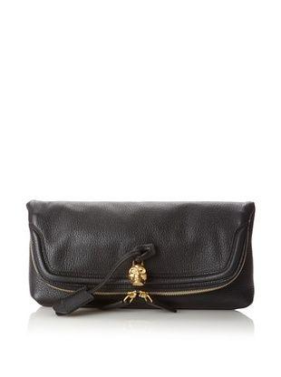 Alexander McQueen Women's Foldover Clutch, Black