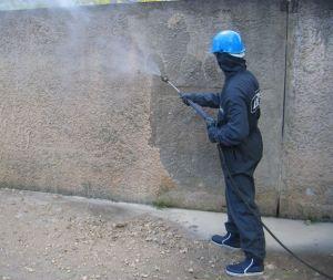 Окраска бетона распылителем