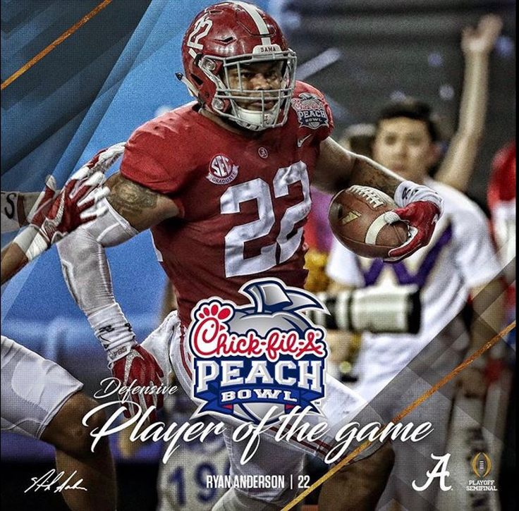 Ryan Anderson, Defensive Player of the Game  | Alabama 24 Washington 7 in the 2016 Peach Bowl CFB Playoff.