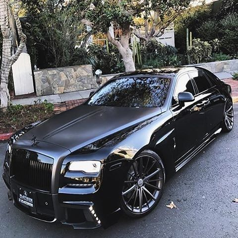 All black Rolls Royce Ghost WALD Black Bison II 💀 What do you think? By @platinum group. . #rollsroyce #ghost #luxury #supercar #murderedout #blackedout #verynice #luxurylife #want #need
