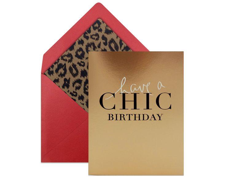 "BIRTHDAY CARD ""Have A Chic Birthday"" | The perfect birthday card for a fashionista!  #greetingcards #birthdaycard #birthday"