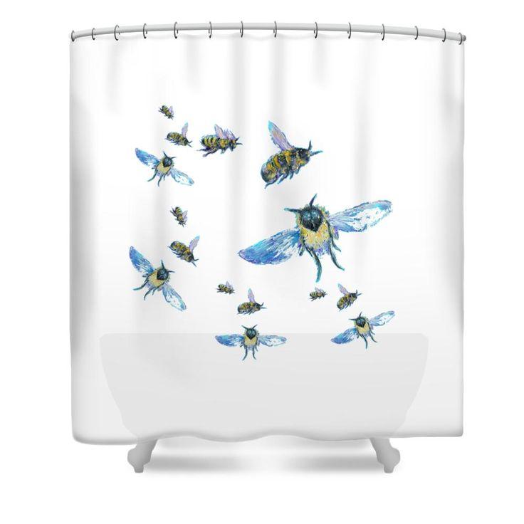 bees design Shower Curtain  #throwpillows #cushions #pillows