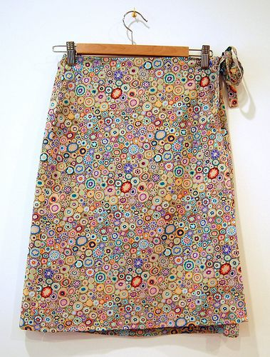 wrap skirt from pattern