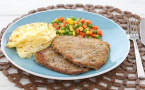 Beef Schnitzel with Scalloped Potatoes