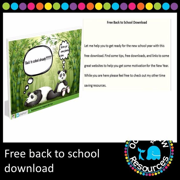 FREE Back to School Download - Ocean View Resources