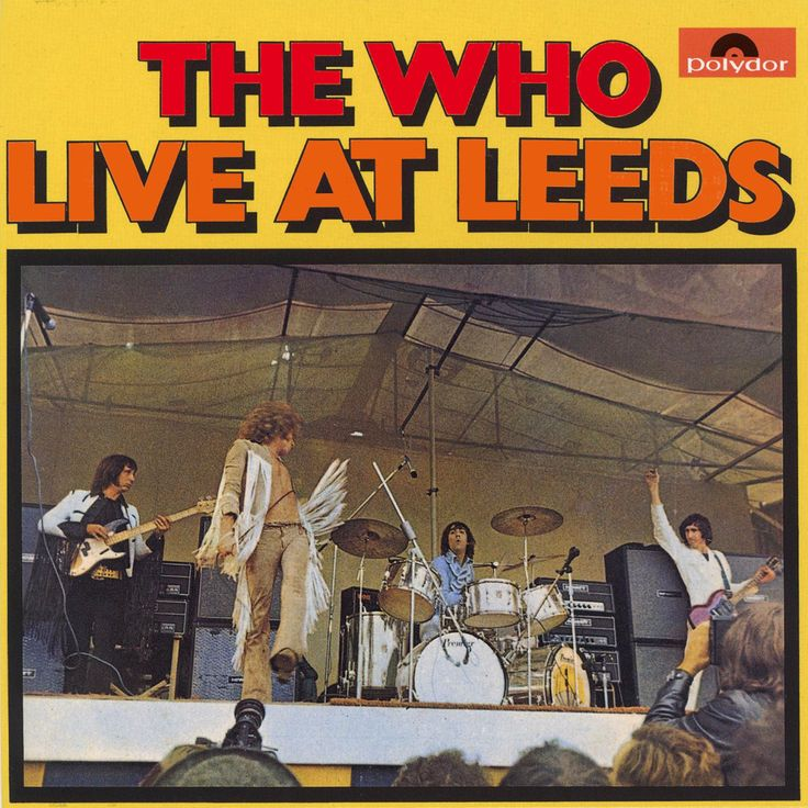 The Who Live At Leeds Great Live Album Uk 1970 W