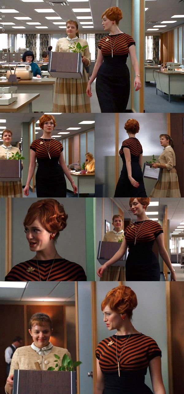 #MadMen Season 1 flashback Peggy and Joan