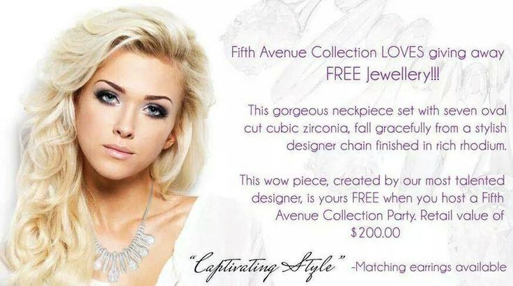 Host a viewing with fifth avenue collection and get this amazing neckpiece for FREE