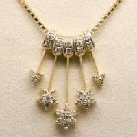 Collane oro bianco oro giallo e diamanti