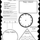 Calendar math worksheet aligned with 2nd grade common core standards. Includes clock, money, fact family, place value etc...    Please rate this item...