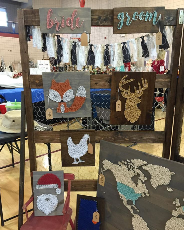 A Section Of My Booth At First Craft Show Chicken Wire Display See