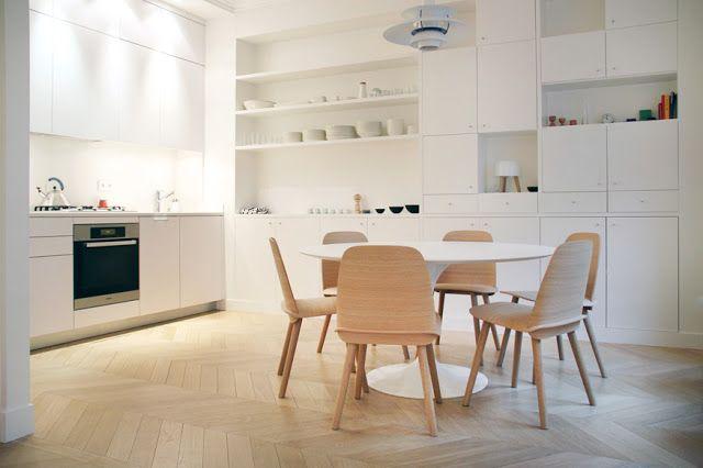 Design Hub - блог о дизайне интерьера и архитектуре: Парижская квартира с современным светлым интерьером
