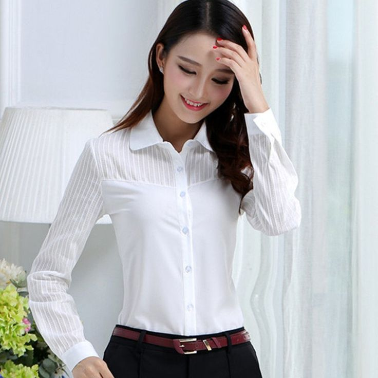 >> Click to Buy << 2017 Women White Blouse Korean Style Ladies Elegant Blusas Long Sleeve Shirt Female Office Work Wear Shirts #Affiliate