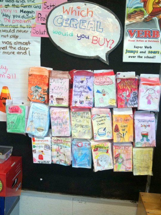 media literacy create your own cereal box present book