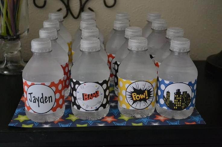 Superhero Super Hero Birthday Party Water Bottle Labels  - Printable - Digital. $2.99, via Etsy.Heroes Birthday, Superhero Super, Water Bottle, Parties Water, Bottle Labels, Birthday Parties, Super Hero Birthday, Parties Ideas, Super Heroes