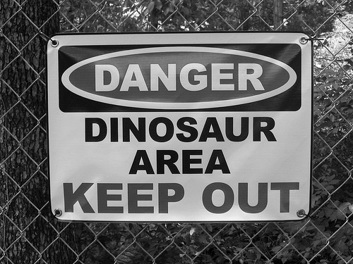 dinosaurs <3 --  need this on the back yard fence! haha