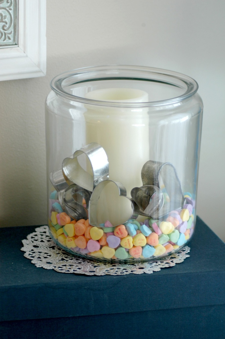 Valentines Day Decor Candle