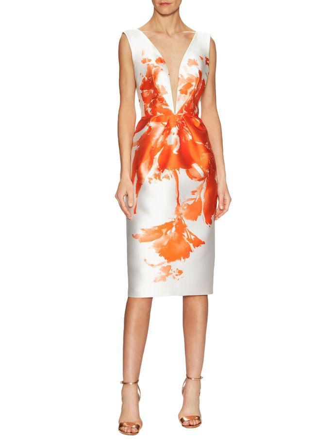 Angela Sanchez - sleeveless floral sheath dress