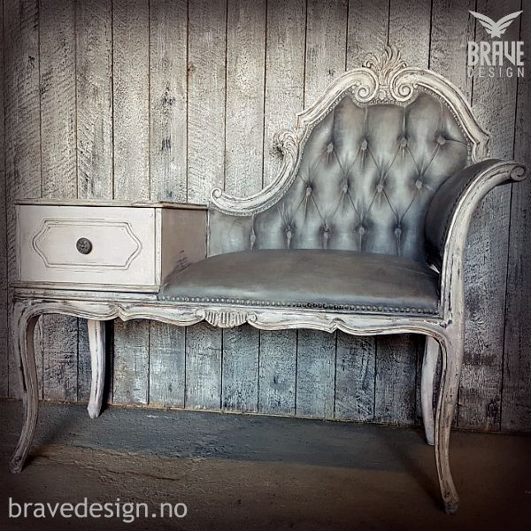 Vintro chalk paint, Paloma over Candyfloss, Midnight on fabric. Clear and dark wax.