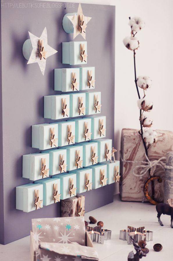 Adventskalender selber basteln und befüllen. 10 kreative Bastelideen. Kalender basteln für Mann, Frau oder Kinder. Mit diesen einfachen Ideen könnt ohne Euch ganz einfach einen Adventskalender selber machen. Kreative DIY Ideen zum nachmachen.