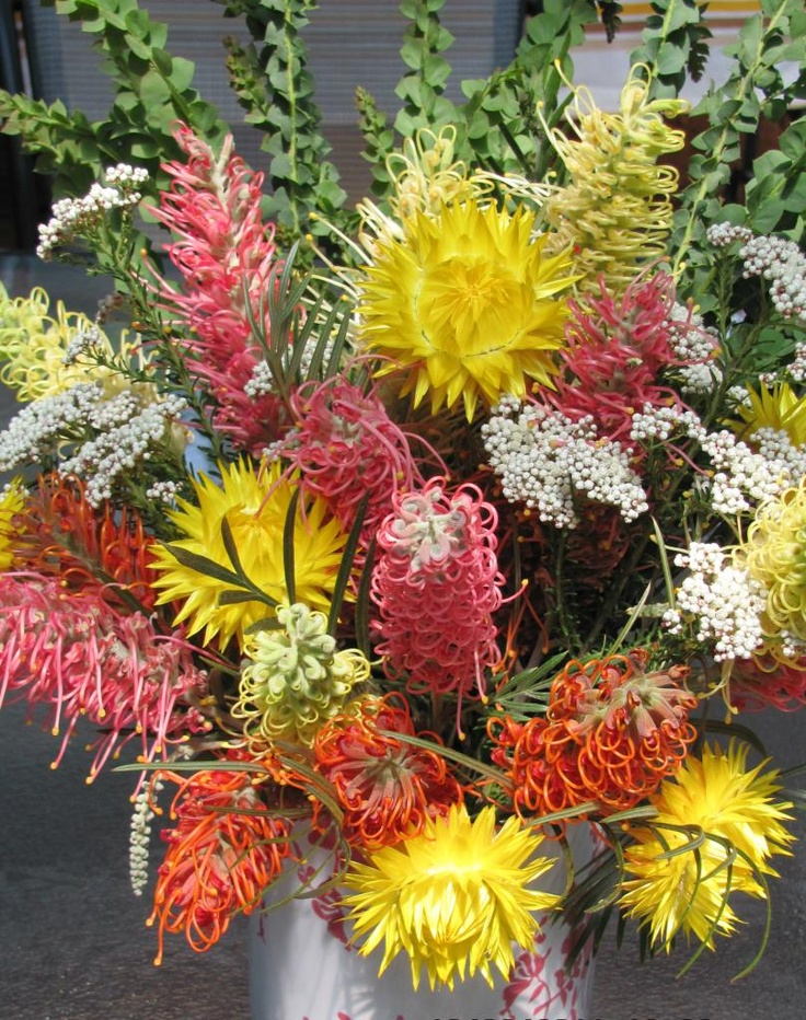 A beautiful arrangement of Australian native flowers