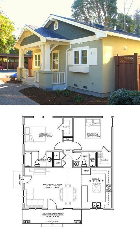 Craftsman Bungalow Floor Plans in 2019