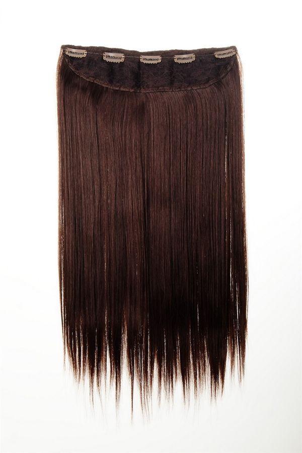 Hair piece Hair extension wide 5 Clip dense