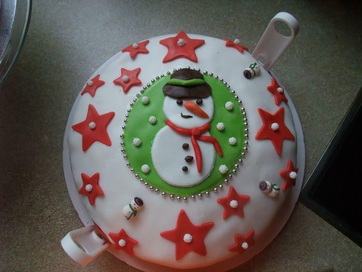 Snow man cake (Sneeuwpop taart)