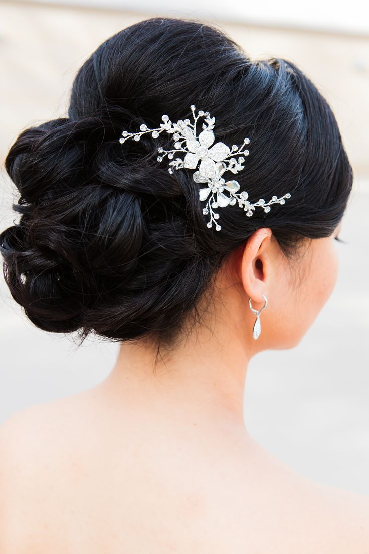 Hair accessories for updos hairstyles -  Bridal Hair Updo Weddinghair Www Musemakeupartistry Com