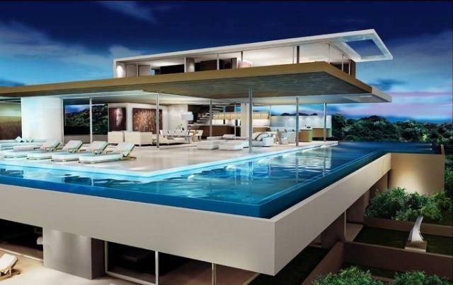 La alberca panor mica y en piso alto espacios favoritos casas casas modernas y piscinas - Piscinas en alto ...