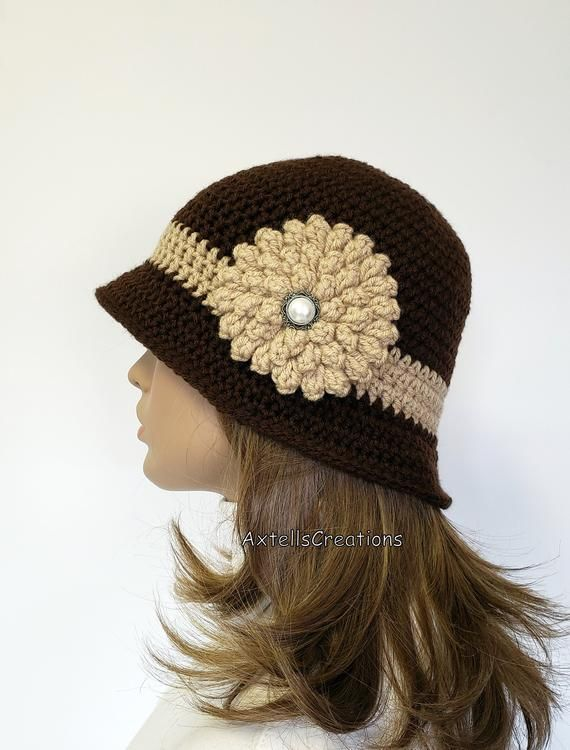 Friend Ethnic Events Influenced by Tribesman Clan Her Crochet Cloche Hat with Diagonal Brim Fringes Tribal Style in Sage Green for Women
