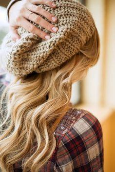 Dark Brown Crochet Beanie Fashion   best stuff