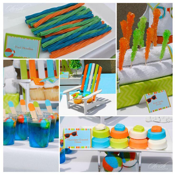 Baby Shower Pool Party Ideas birthday party sesamestreet elmo bigbird tara guerard Summer Pool Party Baby Shower Vendor Collaboration