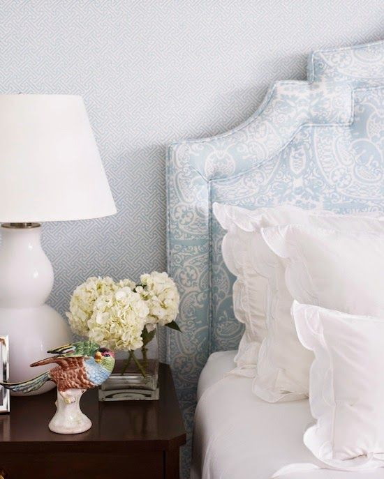 Soft blue and white