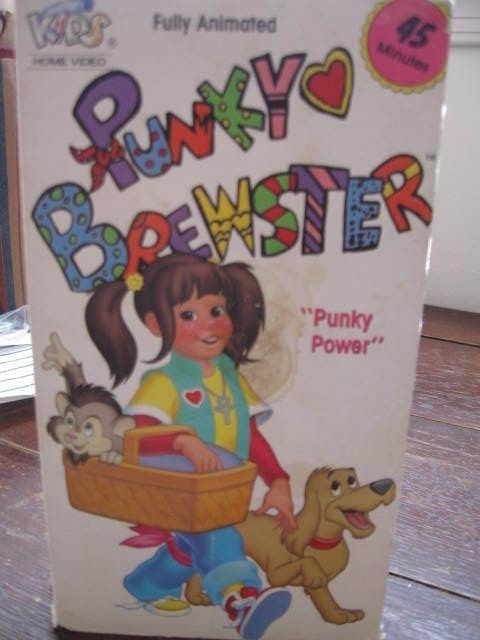 VHS Tape Punky Brewster Punky Power Soleil Moon Frye Animated 45 Min VG 1991