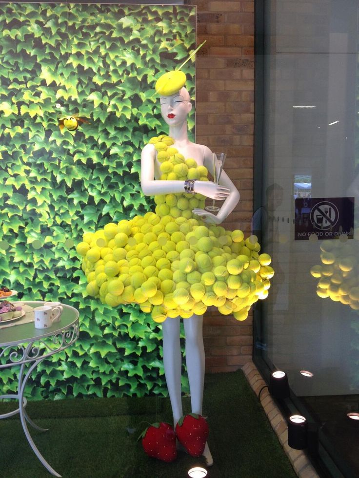 Tennis ball dress.